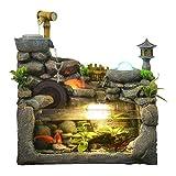 TangMengYun Chinesische Steingarten Indoor Brunnen Dekoration Fischteich Wohnzimmer Feng Shui Luftbefeuchter Desktop Landschaft 46 * 22 *   46 cm