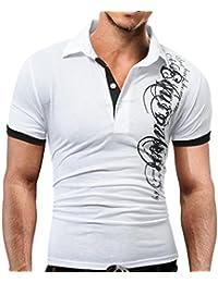 Camisas casual Hombre ❤️Amlaiworld Moda Camiseta Hombre de Verano Irregular Ajustada de Algodón de Manga Corta Blusa Tops… e2Peq4VL4N