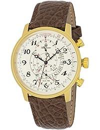Burgmeister Armbanduhr für Herren mit Analog-Anzeige, Quarz-Uhr und Lederarmband - Wasserdichte Herrenuhr mit zeitlosem, schickem Design - klassische Uhr für Männer - BM541-275 Temecula