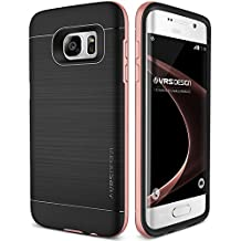 Coque Galaxy S7 Edge, VRS Design [High Pro Shield][Or Rose] - [Housse Protection][Anti Chocs Case][Miltary Grade][Anti Scratch Etui]- pour Samsung Galaxy S7 Edge