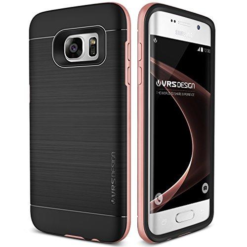 Galaxy S7 Edge Hülle, VRS Design® Schutzhülle [Rosa Gold] Schlagfesten Stoßstangen TPU Bumper Case Kratzfeste Schlanke Handyhülle [High Pro Shield] für Samsung Galaxy S7 Edge 2016