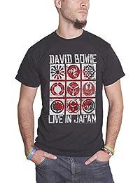 David Bowie Live In Japan tour Affiche nouveau officiel Homme Noir T Shirt