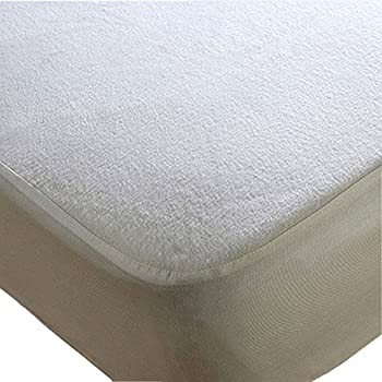 Trance Home Linen Economy Waterproof Mattress Protector (White; 78 x 60 inch)