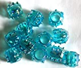 #9: Macrame Beads, Medium Size Beads, 100 Beads, Sky blue
