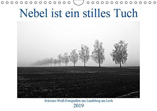 Nebel ist ein stilles Tuch - um Landsberg am Lech (Wandkalender 2019 DIN A4 quer): Schwarz-Weiß-Fotografien von Martina Marten (Monatskalender, 14 Seiten) (CALVENDO Orte)
