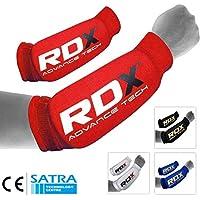 CE Bescheinigt Genehmigt Durch SATRA RDX Unterarmschutz Kampfsport Gepolsterten St/ützbandage Bandage Ellenbogen Compression MEHRWEG