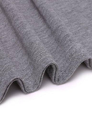 Aulei Männer Shirt Deep V-Neck Grau