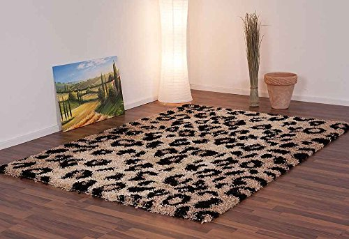 Koton Alfombra Shaggy Leopardo Beige 120x 170cm