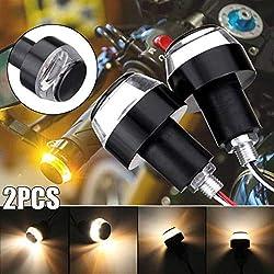 schwarz Lenkergewichte Motorrad EVO universal f/ür Lenker mit Innen 12-21 mm