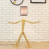 YNYKE Lampada da Terra Lampada da Lettura Multifunzione Regolabile E27 Fantoccio Lampada Piantana Perfettamente Decorativa per Soggiorno, Camera da Letto, Ufficio, Nero 110 cm