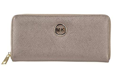 MIK Damen Geldbörse, Trendy Elegant PU Leder Portemonnaie Geldbeutel und Handytasche in einem (Bronze) (Damen Bronze Geldbörse)