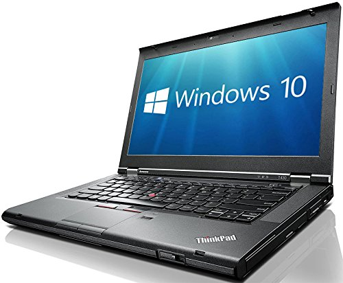 Lenovo ThinkPad T430 14-Inch LED Notebook -  Black   Intel i5-3320M  8 GB RAM  120 GB SDD  Windows 10 Pro   Certified Refurbished