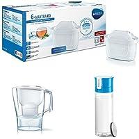 BRITA MAXTRA+ - Filtro de agua 100 l, pack de 6 meses + BRITA Aluna