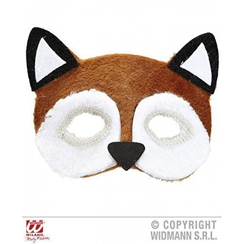 Gesichtsmaske plüschiger Fuchs ( Fuchskostüm / Tierkostüm Zubehör ) (Fuchs-maske Kostüm)