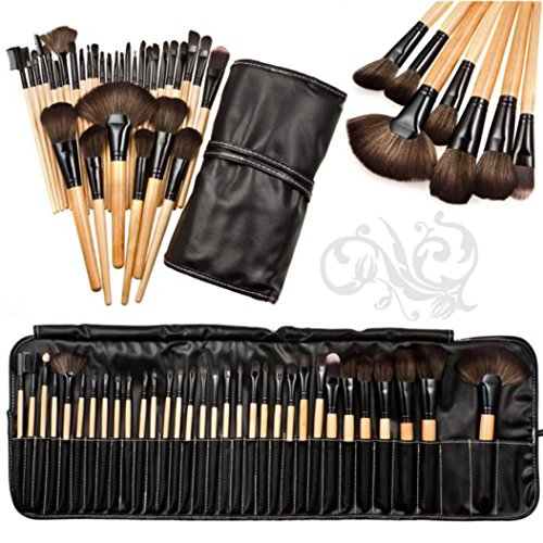 LHWY 2017 Maquillage 32pcs Professional doux Cosmetic Sourcils Ombre Kit Brush Set + Sac pochette
