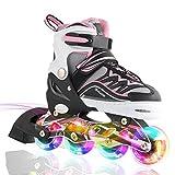 2pm Sport Ciro Kinder verstellbar leuchten Inline Skates von Kuxuan Serie, mit voller Beleuchtung LED-Räder, blau rot rosa farbe verfügbar, Fun Flashisng Rollerblades für Jungen und Mädchen