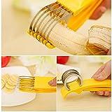 DIMDIM Bananenschneider Gurkenschinken Obstschneider Chopper Küchenwerkzeug Edelstahl Klinge