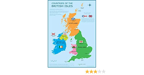 Map Of Uk For Printing.Wisdom Learning Great Britain Map Uk British Isles Childrens Wall Chart A3 30cm X 42cm Educational Childs Poster Art Print Wallchart