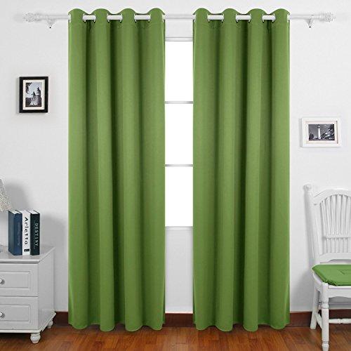 Deconovo tende oscuranti termiche isolanti tende da sole con occhielli per casa moderna 140x260 cm verde olivastro 2 pannelli
