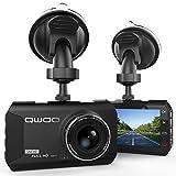 QWOO Dashcam HD AutoKamera, Car DVR Dashboard Camera 3.0 Zoll LCD Full 1080P HD DVR mit 170° Weitwinkelobjektiv, Bewegungserkennung, G-Sensor, WDR, Parkschutz, Loop Recording, Nachtsichtgerät