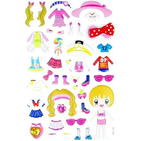 En forma de cubo para mascotas de costura para faldas de pared para niñas 3D Relieve de vinilo