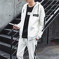 El otoño y el invierno deporte Traje Sport sweater Suit macho coreano ropa de ocio juvenil,Blanco,3XL