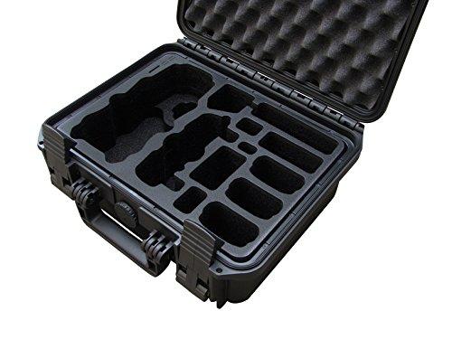 TOMcase Travel Edition Profi Transportkoffer Farbe schwarz/Inlay schwarz, für DJI Mavic Pro mit Platz für 5 Akku und viel weiterem Zubehör, wasserdichter Outdoor Case IP67 zertifiziert, Hardcase (schwarz)