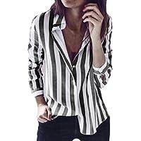Blusas Mujer, ASHOP Casual a Rayas Suelto Escote en v Sudaderas Ropa en Oferta Camisetas Manga Larga Tops de Fiesta Abrigos Invierno de Mujer otoño