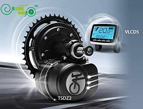 TONGSHENG 36V 350W Brushless Geared Mid-Drive Motor eBike Kit Integrated Controller Torque Sensor LCD