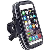 Cdet Support Téléphone étanche Pluie Portable Vélo Moto Rotatif à 360 Bracelet Taille Réglable Compatible Avec Pour iPhone 6,6plus,5,5s,4,Galaxy S5,S4,S3,Note 4,3, 2,HTC One/8X/8S,LG Optimus/Nexus 4