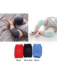 Hillento bebé unisex rastreo antideslizante rodilleras, niño rodilla codo almohadillas rastreo proteter