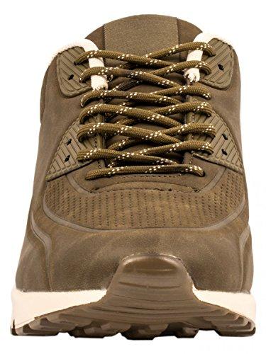 Elara Hochwertige Sneaker | Bequeme Herren Low Top Sportschuhe | Moderne Laufschuhe Turnschuhe Khaki State