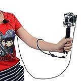 micros2u Externe Lavalier Revers Wechselrahmen 3,5mm Audio Mikrofon für GoPro Hero 43+ 32