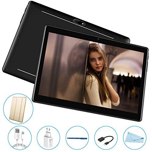 Tablet PC 10 offerte Quad Core, RAM 2 GB, Memoria Espandibile 32 GB, Tablet 10 pollici offerte Android 7.0 V Mobile,Dual schede SIM Supporto chiamate 3G, Wifi/GPS/OTG -Nero