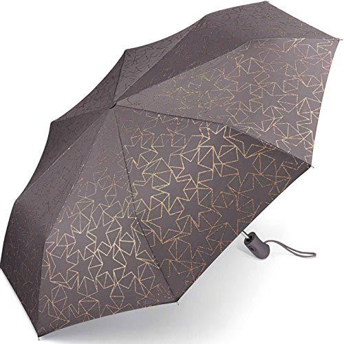 Esprit - ombrello tascabile easymatic light glitter stars, grigio. (multicolore) - 53197