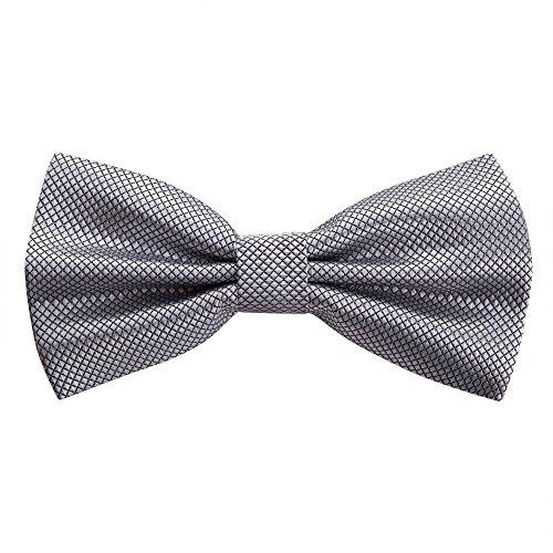OKCS Fliege - Schleife - Krawattenschleife - Querbinder - Mascherl in Silber (Kragen Band Fliege)
