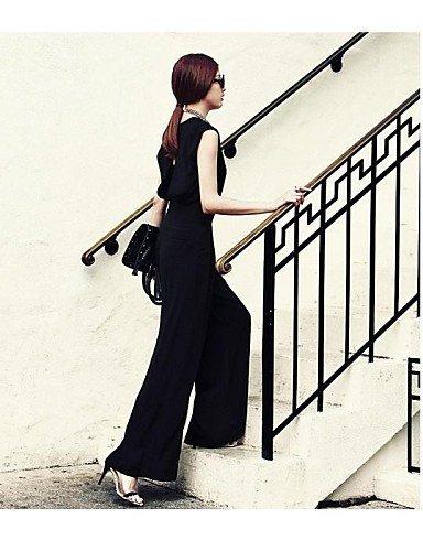 GSP-Nouvelle manche sexy V de femmes apporté de nouveau pantalon de salopette black-xl