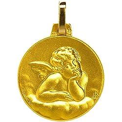 1000 médailles de baptême Médaille Ange Raphaël (plaqué Or)