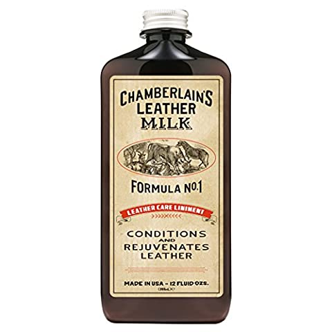 Chamberlain's Leather Milk - Leather Care Liniment Nr. 1 - Leder-Conditioner - Naturbasis/ungiftig - 1 Auftragepad - Hergestellt in den USA - 2 Größen - 0.35 L