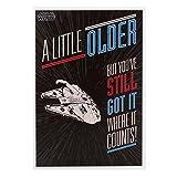 """""""Star Wars-Biglietto di auguri di compleanno, motivo:"""" Little Older'"""