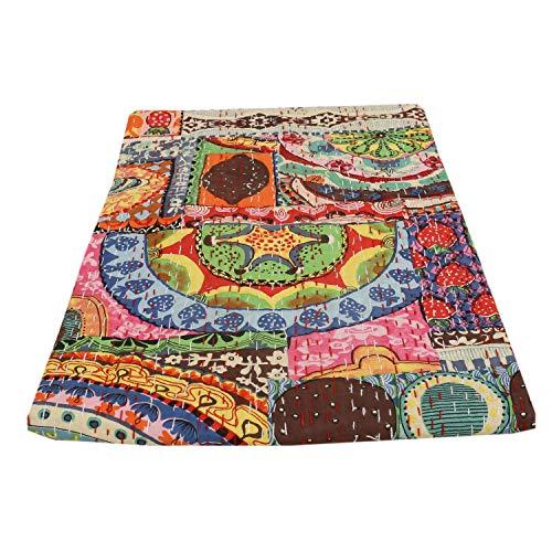 indischen Patch Work Baumwolle Kantha Quilt Tween Tagesdecken Überwurf Decke (Multi Floral) Bohemian Tagesdecke, Bohemian Betten, handgefertigt kantha Steppdecke -