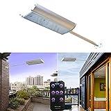 Poncherish 70 LED Solarleuchte Solarlampe Garten Bewegungsmelder Außen Leuchte Beleuchtung Licht Scheinwerfer Auffahrt, IP65 wasserdicht,5 Modi,für Tür Flur Weg Terrasse Patio Zaun