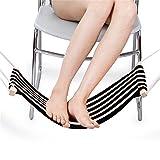 Fußhängematte Fußstütze verstellbar Leinwand für Ihr Fuß im Büro und Zuhause beim Arbeit Lernen (schwarz)