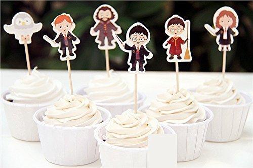 24Harry Potter Cupcake Topper Kuchen Dekorationen Fruit Picks Baby Dusche Kids Birthday Party Supplies