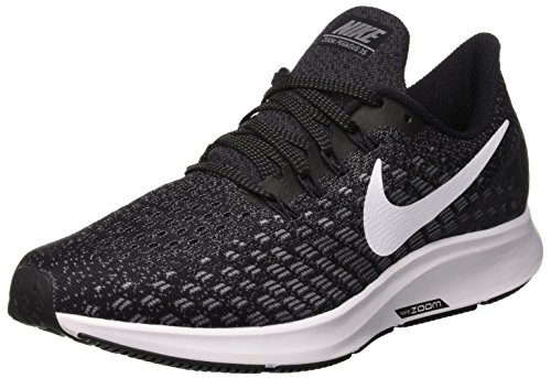 Nike Air Zoom Pegasus 35, Scarpe da Running Donna, Nero (Black/White/Gun Smoke/Oil Grey 001), 38 EU