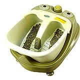 FUFU Foot Massagers Baigne de pied Accueil massage automatique de pieds de massage Balai de chauffage Bassin de pieds électrique Barils profonds de bain de pied (vert de l'armée) (268 * 468 * 368mm) Avec fonction chaleur