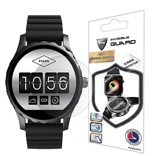 Price comparison product image Fossil Q Marshal Screen Protector (2 Units) Invisible Ultra HD Clear Film Anti Scratch Skin Guard - Smooth / Self-Healing / Bubble -Free By IPG