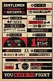 Posters: Fight Club Poster - 8 Règles, Interdit De Parler (91 x 61 cm)