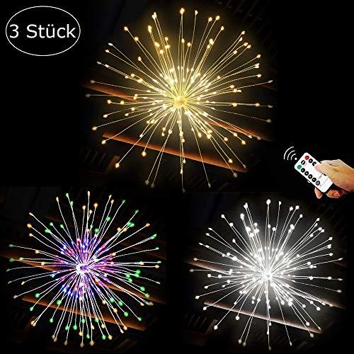 Hängend LED Lichterketten IP65 Wasserdicht, Kabellos Fernbedienung im Freienlicht zum Garten Terrasse Hochzeit Party Weihnachten
