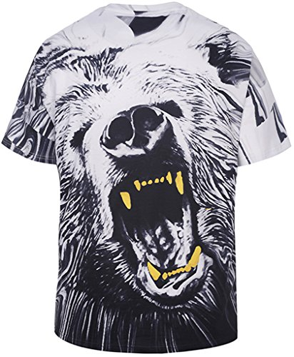Pizoff PLUS Unisex Extrem übergroßes T-Shirt mit Digital 3D Print Muster Y1791-02